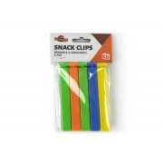 Bag Clips Air Tight 10cm x 1cm Assorted Colours 5 Pack