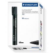 Permanent Marker Bullet 352 Staedtler - Black (Pack of 10)