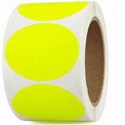 Sticky Dots 24mm - Fluorescent Yellow (Pack of 350)