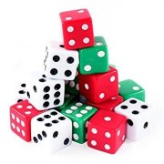 Dice Set Assorted Colours (Pack of 12)
