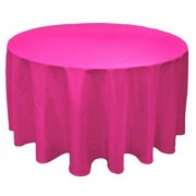 Round Plastic Tablecloth 213cm - Magenta (Each)