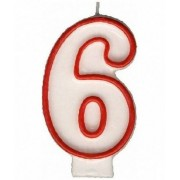 Candle - Number 6 (Each)