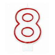 Candle - Number 8 Each