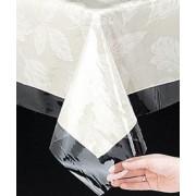 Rectangular Plastic Tablecloth 225cm x 150cm - Clear (Each)