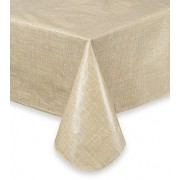 Rectangular Plastic Tablecloth 274cm x 152cm - Coffee (Each)