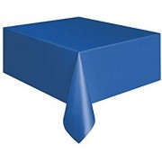 Rectangular Plastic Tablecloth 274cm x 152cm - Dark Blue (Each)