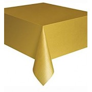 Rectangular Plastic Tablecloth 274cm x 152cm - Gold (Each)