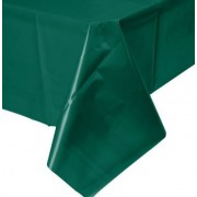 Rectangular Plastic Tablecloth 274cm x 152cm - Dark Green (Each)