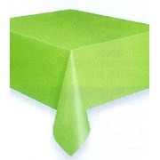 Rectangular Plastic Tablecloth 274cm x 152cm - Lime Green (Each)