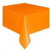 Rectangular Plastic Tablecloth 274cm x 152cm - Orange (Each)