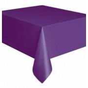 Rectangular Plastic Tablecloth 274cm x 152cm - Purple (Each)