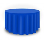 Round Plastic Tablecloth 213cm - Dark Blue (Each)