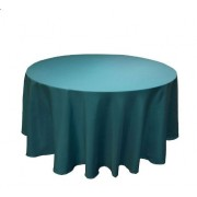 Round Plastic Tablecloth 213cm - Dark Green (Each)