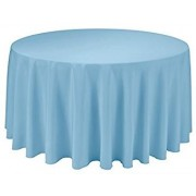 Round Plastic Tablecloth 213cm - Light Blue (Each)