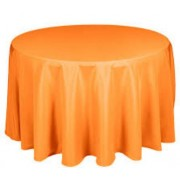 Round Plastic Tablecloth 213cm - Orange (Each)