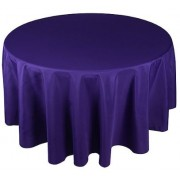 Round Plastic Tablecloth 213cm - Purple (Each)