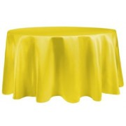 Round Plastic Tablecloth 213cm - Yellow (Each)