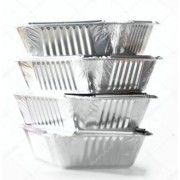 Foil Takeaway Tray w/ Lid - Small (Pack of 4)