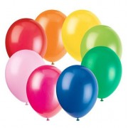 Round Balloons - Assorted Colours (Pack of 100)