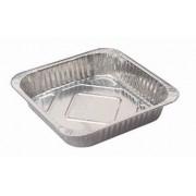 Foil Square Baking Tray w/ Lid - Medium (Each)