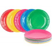 Coloured Paper Plates 18cm (Pack of 50)