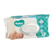 Huggies Unscented Wipes (4 Packs of 80)