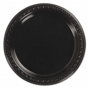 Black Round Side Plate - 180mm (Pack of 50)