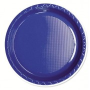 Blue 260mm Banquet Plates 25 Pack