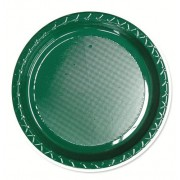 Green 172mm Side Plates (Pack of 25)