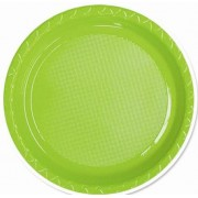 Lime Green 172mm Side Plates (Pack of 25)