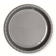 Silver 172mm Side Plates (Pack of 25)