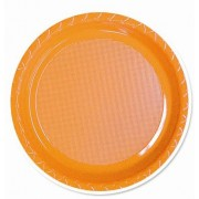Orange 172mm Side Plates (Pack of 25)