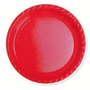 Red 172mm Side Plates (Pack of 25)