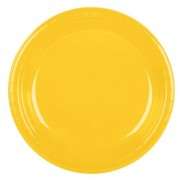 Yellow 172mm Side Plates (Pack of 25)