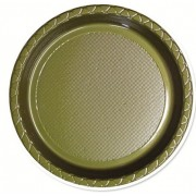Gold 260mm Banquet Plates (Pack of 25)
