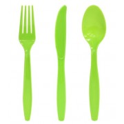 Lime Green Cutlery (Set of 25)