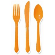 Orange Cutlery (Set of 25)