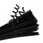 Chenille Stems Black 100 Pack
