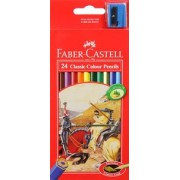 Pencils Coloured 24 Pack With Sharpener