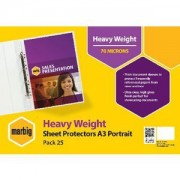 Sheet Protector Heavy Weight A3 Portrait (Pack of 25)