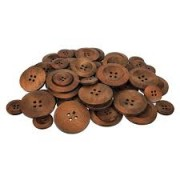 Wooden Buttons Assorted Sizes (Pack of 50)