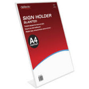 Sign Holder A4 Slanted Single Sided Portrait