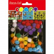 Pom Poms Assorted (Pack of 150)