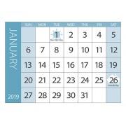 Calendar Tabs 2019 10 Pack