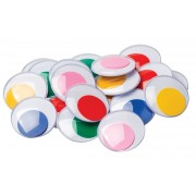 Joggle Eyes Giant Coloured 40mm Assorted 20 Pack