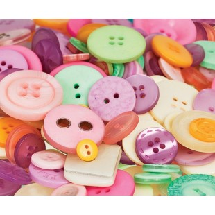 Buttons Pastel Colours (600g)