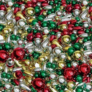 Christmas Pearl Bead Mix  (25g)