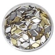 Sequins Gold & Silver Diamonds (50g)