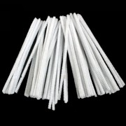 Chenille Stems - Pipe Cleaners White 6 Inch  (Pack of 50)