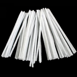 Chenille Stems - Pipe Cleaners 6 Inch White 50 Pack